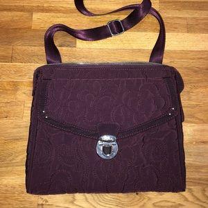 Vera Bradley deep purple crossbody purse